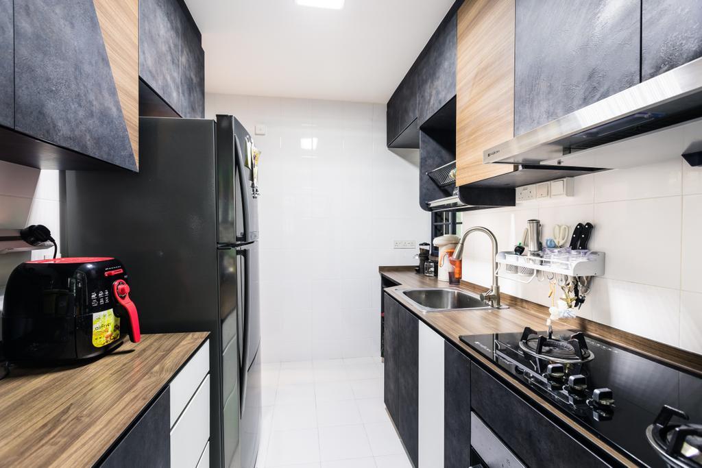 Contemporary, HDB, Kitchen, Skyville @ Dawson, Interior Designer, Colourbox Interior, Indoors, Interior Design, Room, Building, Housing, Loft