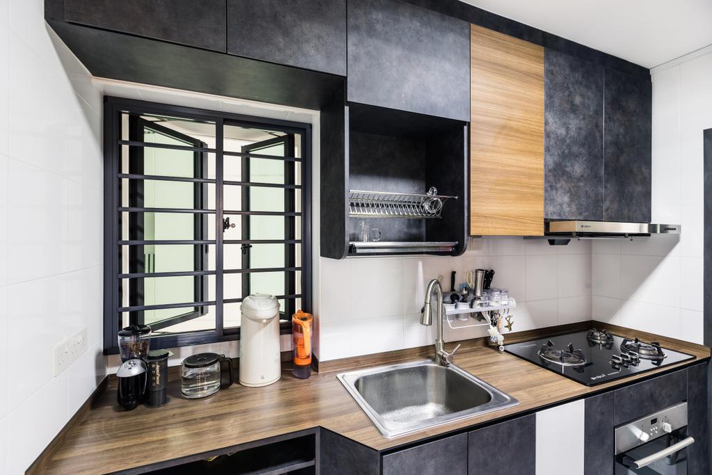 Contemporary, HDB, Kitchen, Skyville @ Dawson, Interior Designer, Colourbox Interior, Indoors, Interior Design, Room, Sink, Appliance, Electrical Device, Oven