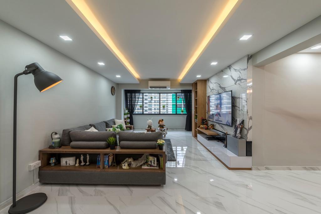 Modern, HDB, Living Room, Commonwealth Avenue West (Block 413), Interior Designer, ID Gallery Interior, Industrial, Couch, Furniture