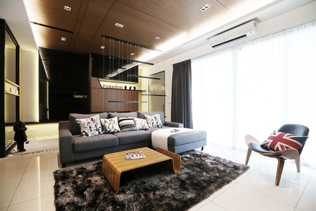 Rimbun Vista Show Unit Type B Living Room Interior Design 16