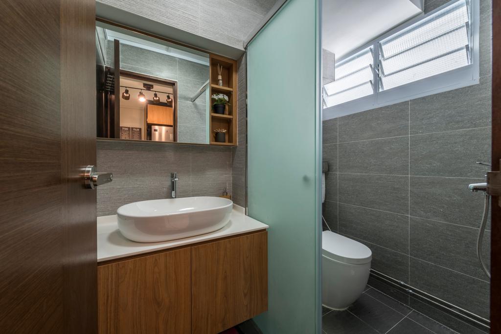 Modern, HDB, Bathroom, Commonwealth Avenue West (Block 413), Interior Designer, ID Gallery Interior, Industrial, Indoors, Interior Design, Room