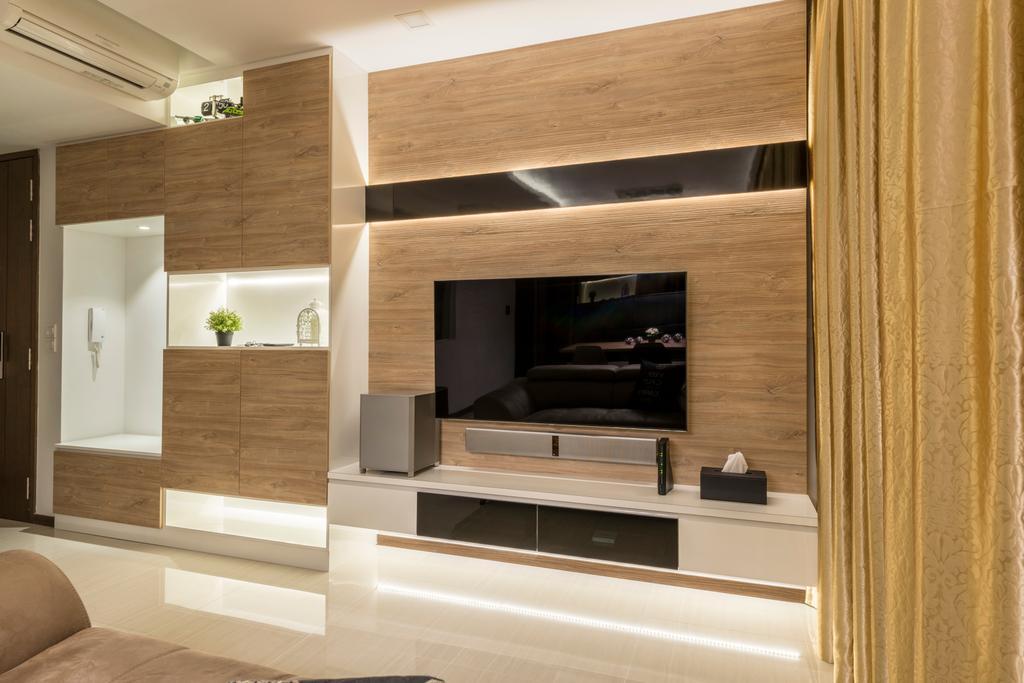 Minimalist, Condo, Living Room, Woodlands, Interior Designer, ID Gallery Interior, Indoors, Interior Design, Couch, Furniture