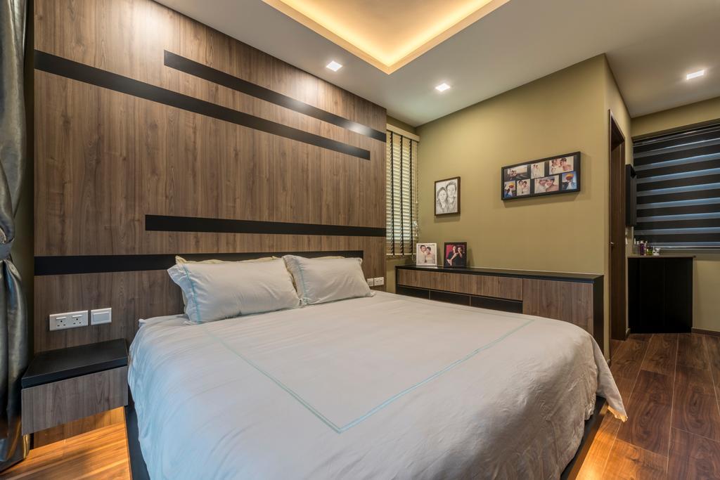 Minimalist, Condo, Bedroom, Woodlands, Interior Designer, ID Gallery Interior, Bed, Furniture, Hardwood, Wood, Flooring, Indoors, Room