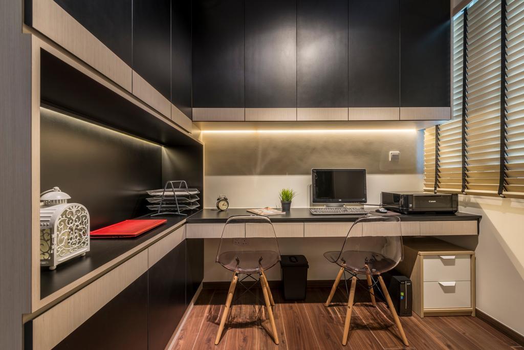 Minimalist, Condo, Study, Woodlands, Interior Designer, ID Gallery Interior, Drawer, Furniture, Indoors, Interior Design, Kitchen, Room