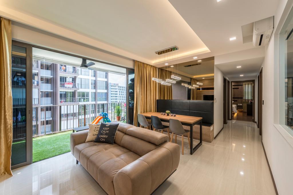 Minimalist, Condo, Living Room, Woodlands, Interior Designer, ID Gallery Interior, Couch, Furniture, Indoors, Interior Design