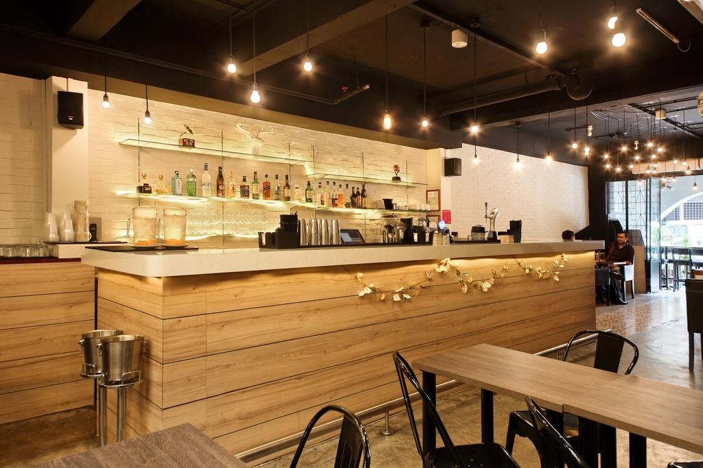 Boon Tat Street, Commercial, Interior Designer, Form & Space, Industrial, Plywood, Wood, Dining Table, Furniture, Table, Sink