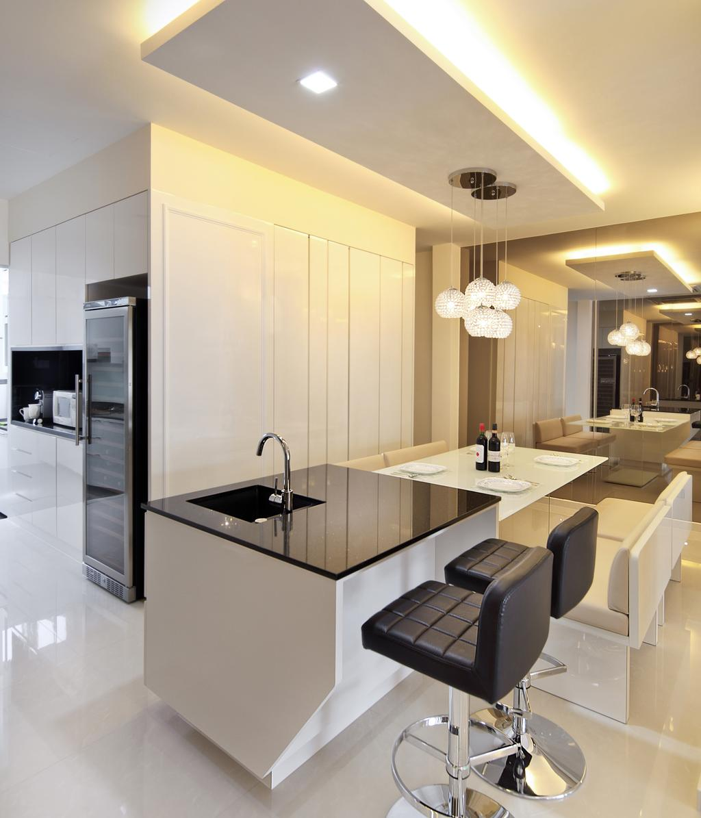 Minimalistic, Landed, Dining Room, Lichi Avenue, Interior Designer, Form & Space, Appliance, Electrical Device, Fridge, Refrigerator, Indoors, Interior Design, Furniture, Dining Table, Table