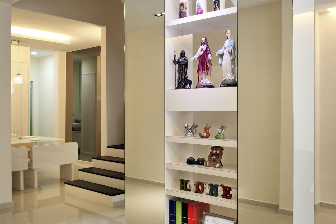Lichi Avenue, Form & Space, Minimalistic, Landed, Shelf, Shoe Shop, Shop, Bookcase, Furniture, Banister, Handrail, Staircase, Indoors, Interior Design