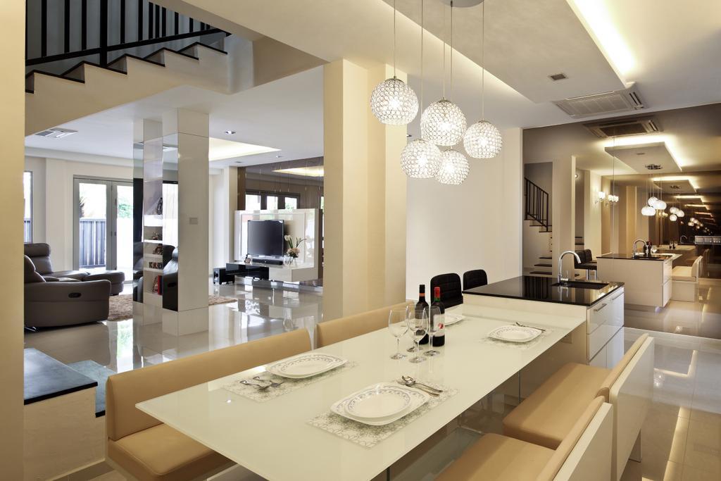 Minimalistic, Landed, Dining Room, Lichi Avenue, Interior Designer, Form & Space, Sink, Indoors, Interior Design, Room