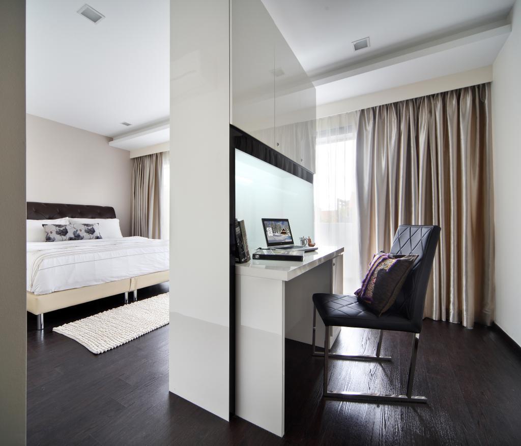 Minimalistic, Landed, Study, Lichi Avenue, Interior Designer, Form & Space, Chair, Furniture