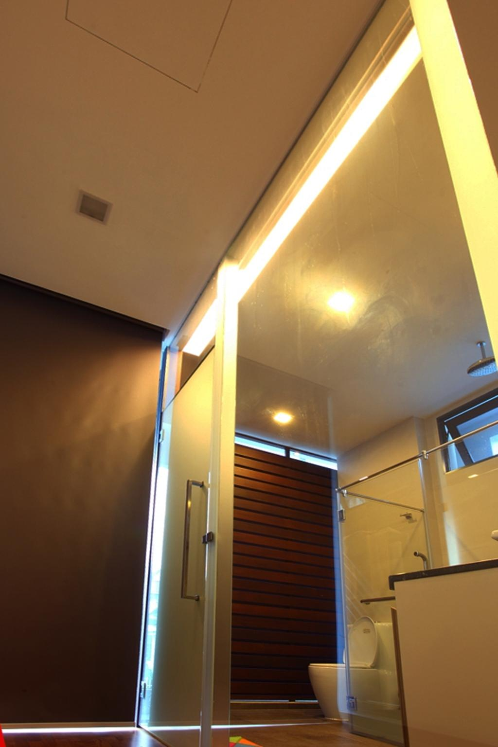Transitional, Landed, Bathroom, Chu Lin Road, Interior Designer, Form & Space, Lighting