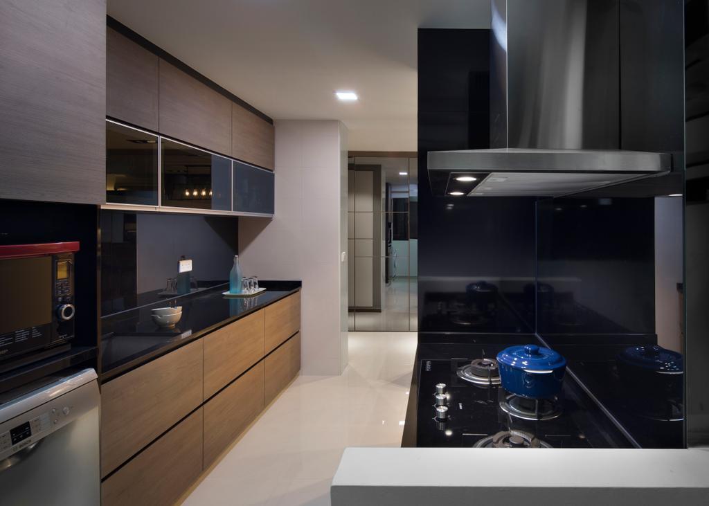 Minimalistic, HDB, Kitchen, Edgedale Plains (Block 121), Interior Designer, Form & Space, Indoors, Interior Design, Room