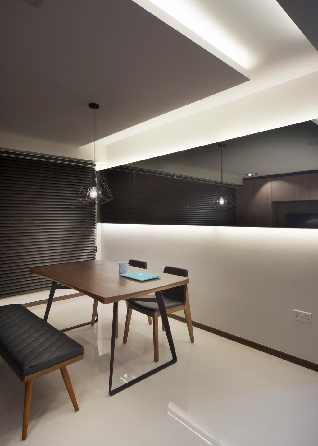 Minimalistic, HDB, Dining Room, Edgedale Plains (Block 121), Interior Designer, Form & Space, Chair, Dining Table, Furniture, Table, Indoors, Interior Design, Room
