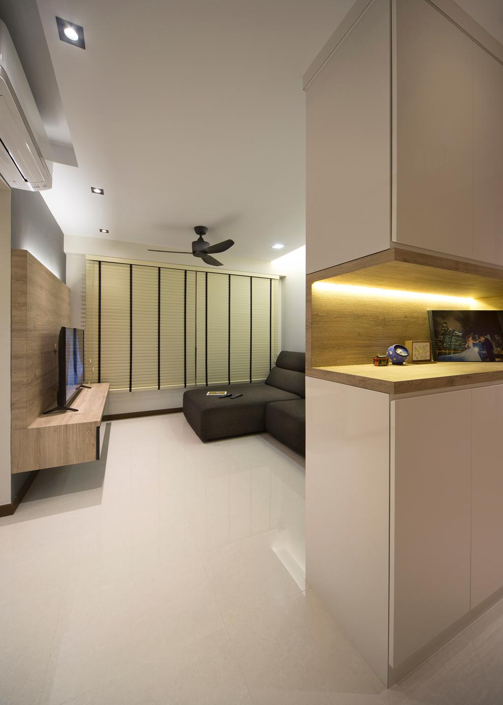 Minimalistic, HDB, Living Room, Boon Lay Avenue (Block 218C), Interior Designer, Form & Space, Scandinavian, Furniture, Sideboard