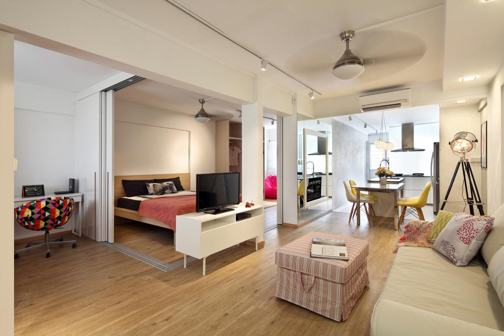 Scandinavian, HDB, Living Room, Ang Mo Kio Avenue 1 (Block 331), Interior Designer, Form & Space, Contemporary, Indoors, Interior Design, Flooring