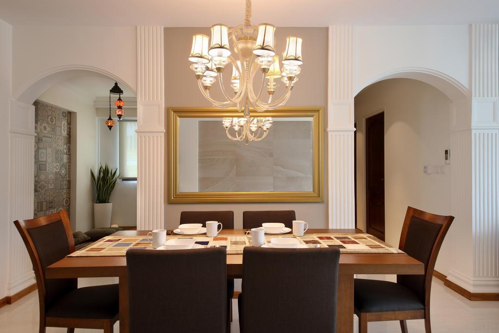 Scandinavian, HDB, Yishun Street 31 (Block 334B), Interior Designer, Form & Space, Dining Room, Indoors, Interior Design, Room, Chair, Furniture, Dining Table, Table, Light Fixture