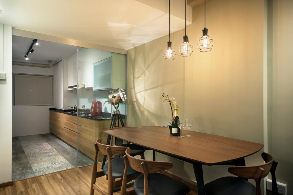 Contemporary, HDB, Dining Room, Ang Mo Kio (Block 503), Interior Designer, Form & Space, Dining Table, Furniture, Table, Indoors, Interior Design, Room, Chair