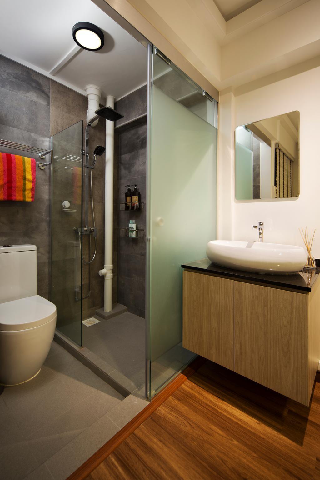 Contemporary, HDB, Bathroom, Ang Mo Kio (Block 503), Interior Designer, Form & Space, Indoors, Interior Design, Room