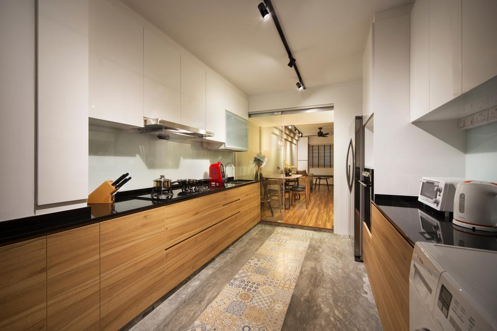 Contemporary, HDB, Kitchen, Ang Mo Kio (Block 503), Interior Designer, Form & Space, Appliance, Electrical Device, Oven