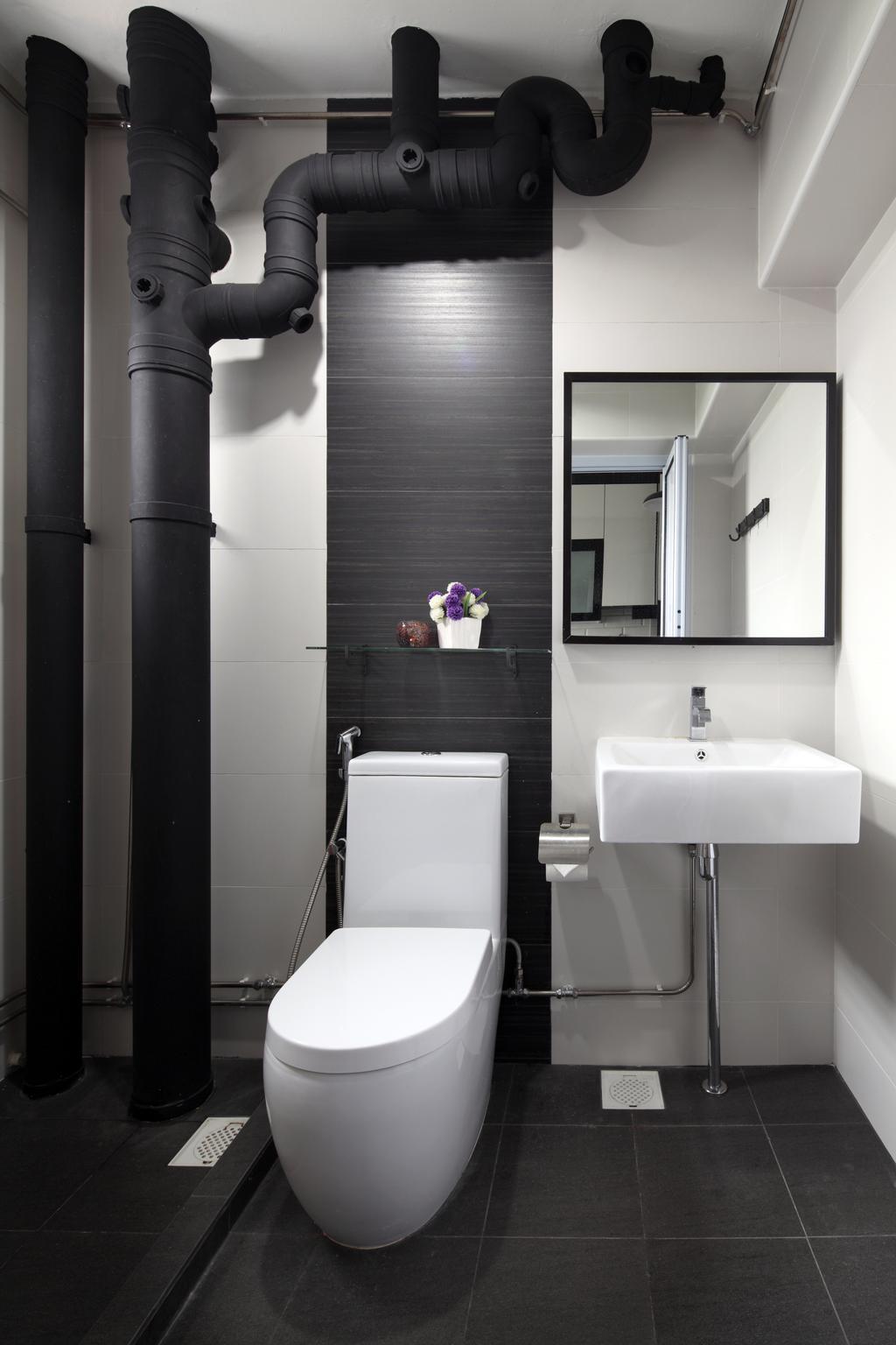 Minimalistic, HDB, Bathroom, Jurong West (Block 622), Interior Designer, Form & Space, Indoors, Interior Design, Room