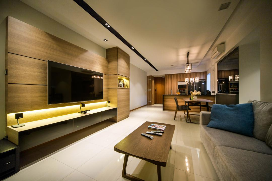 Mi Casa, Form & Space, Contemporary, Living Room, Condo, Couch, Furniture, Indoors, Interior Design, Chair, Tile