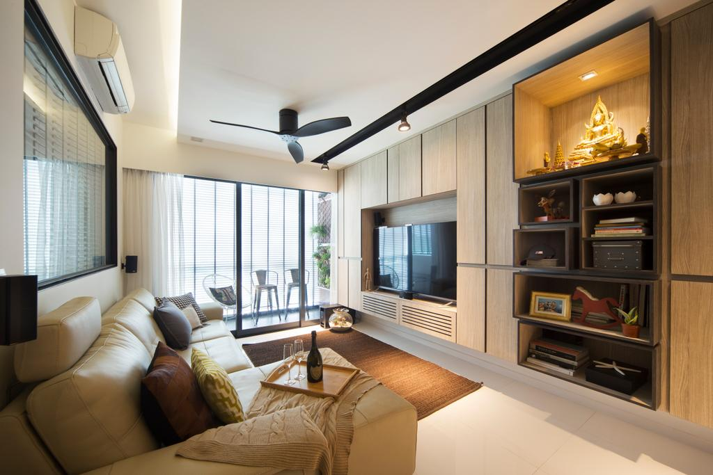 Contemporary, Condo, Living Room, RiverParc Residence, Interior Designer, Form & Space, Couch, Furniture, Indoors, Interior Design