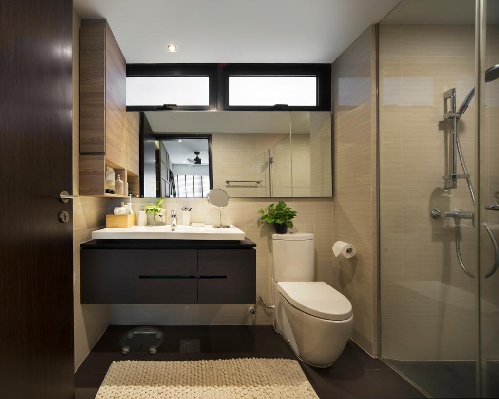 Contemporary, Condo, RiverParc Residence, Interior Designer, Form & Space, Bathroom, Indoors, Interior Design, Room, Toilet