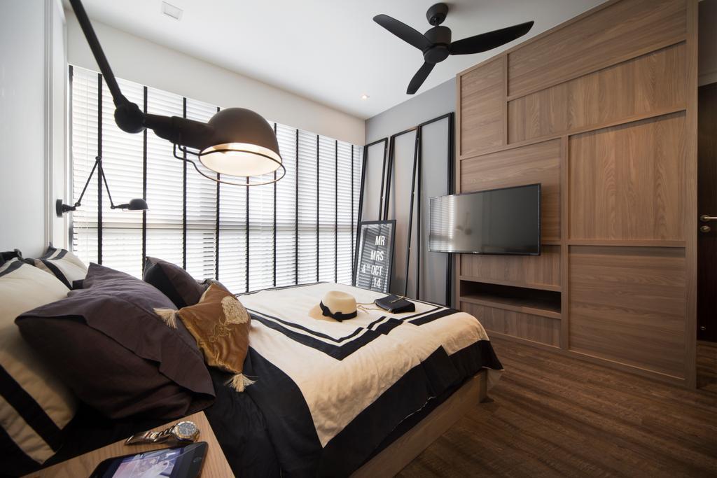 Contemporary, Condo, RiverParc Residence, Interior Designer, Form & Space, Bed, Furniture