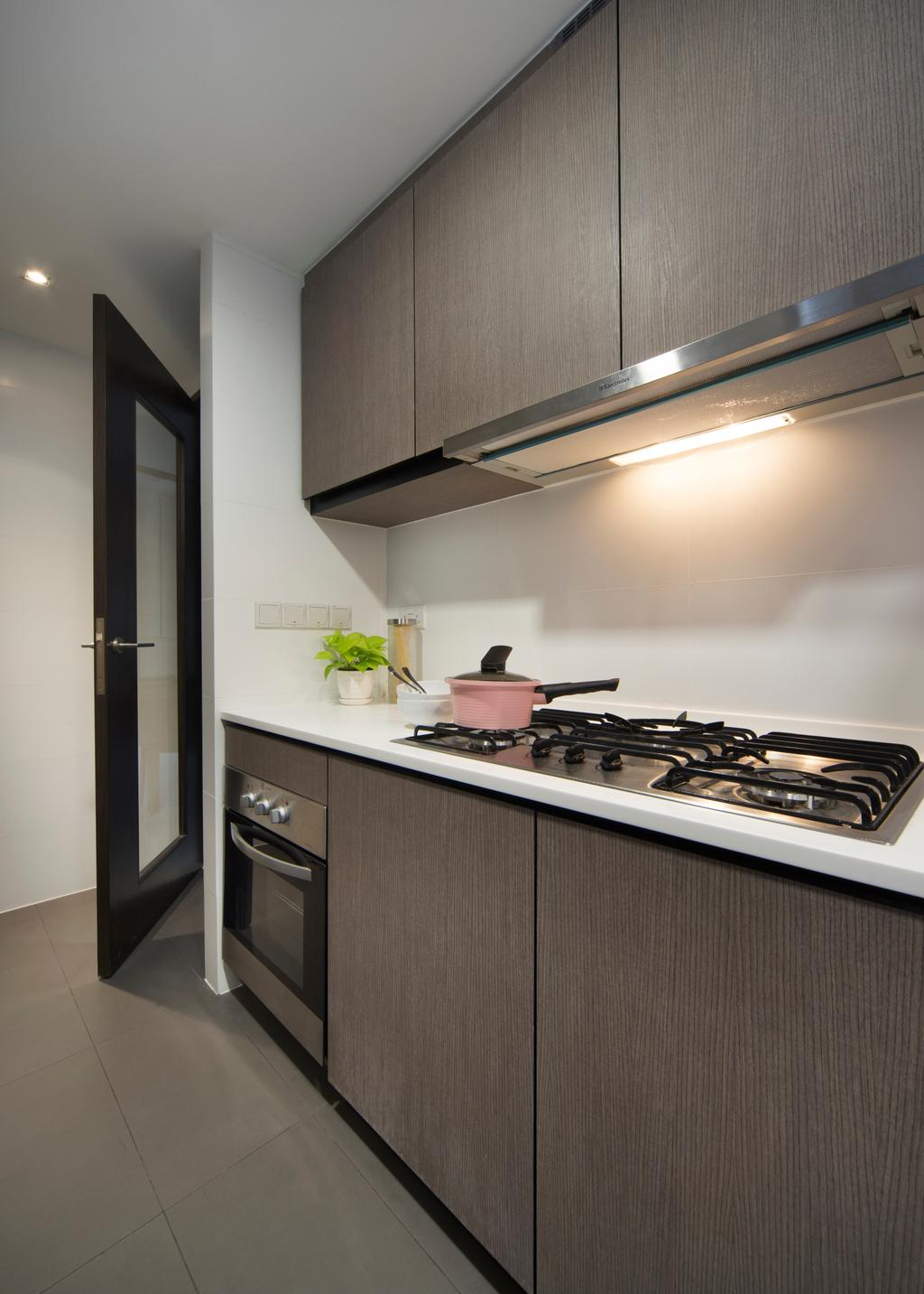 Contemporary, Condo, Kitchen, RiverParc Residence, Interior Designer, Form & Space, Flora, Jar, Plant, Potted Plant, Pottery, Vase