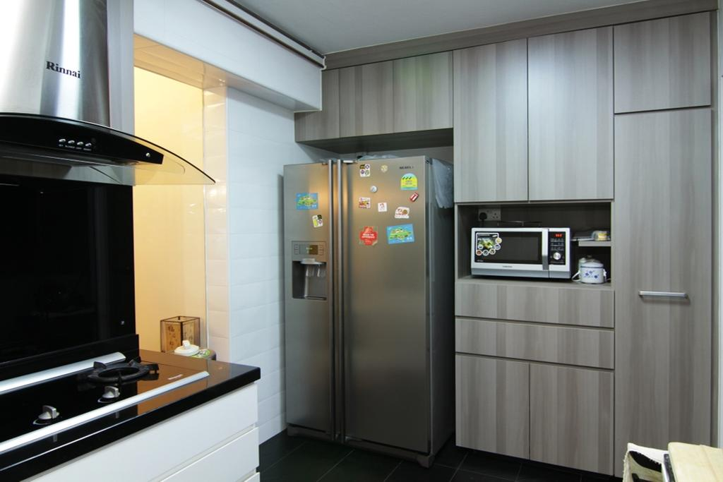 Modern, HDB, Kitchen, Jurong East Street 21, Interior Designer, Form & Space, Appliance, Electrical Device, Microwave, Oven