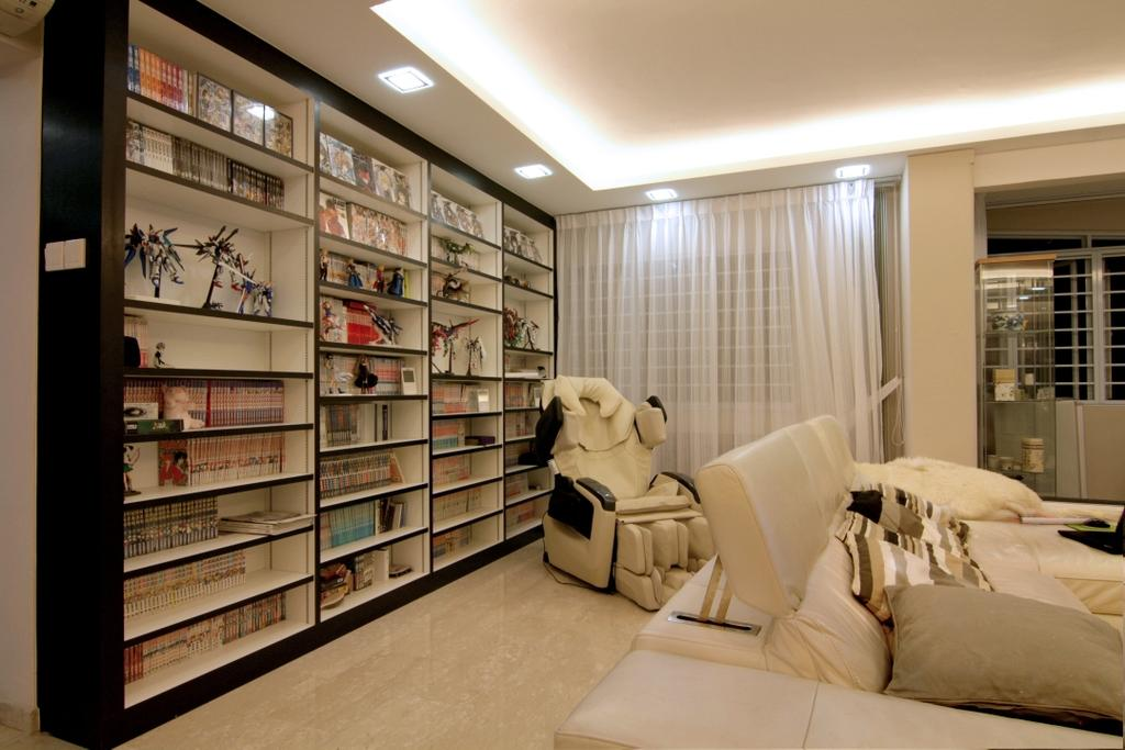 Modern, HDB, Living Room, Jurong East Street 21, Interior Designer, Form & Space