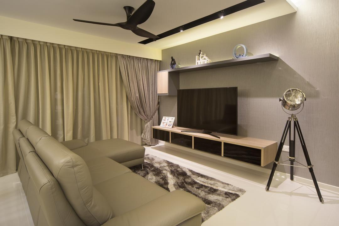 Skypark Residence, Form & Space, Transitional, Living Room, Condo, Tripod