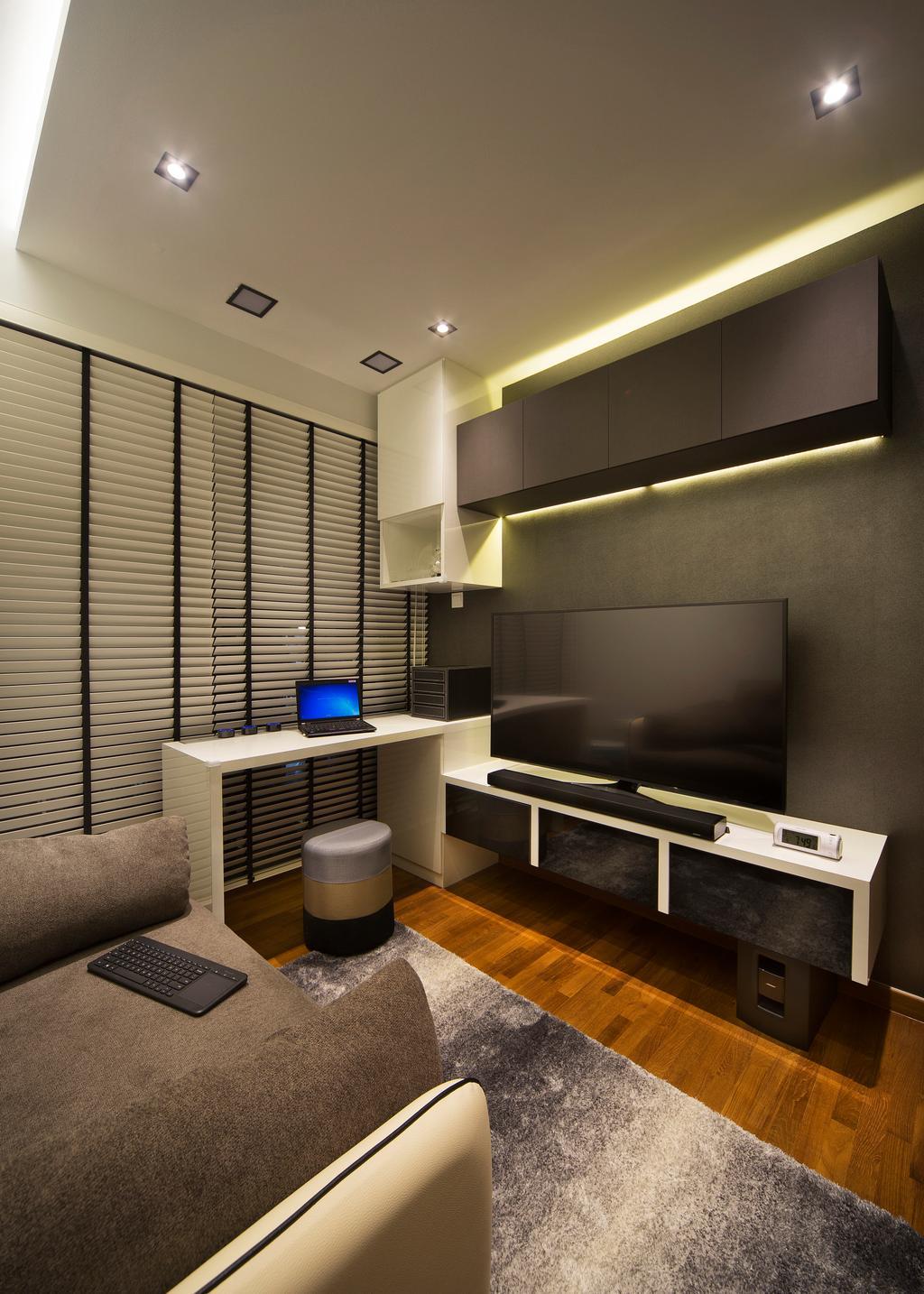 Transitional, Condo, Study, Skypark Residence, Interior Designer, Form & Space