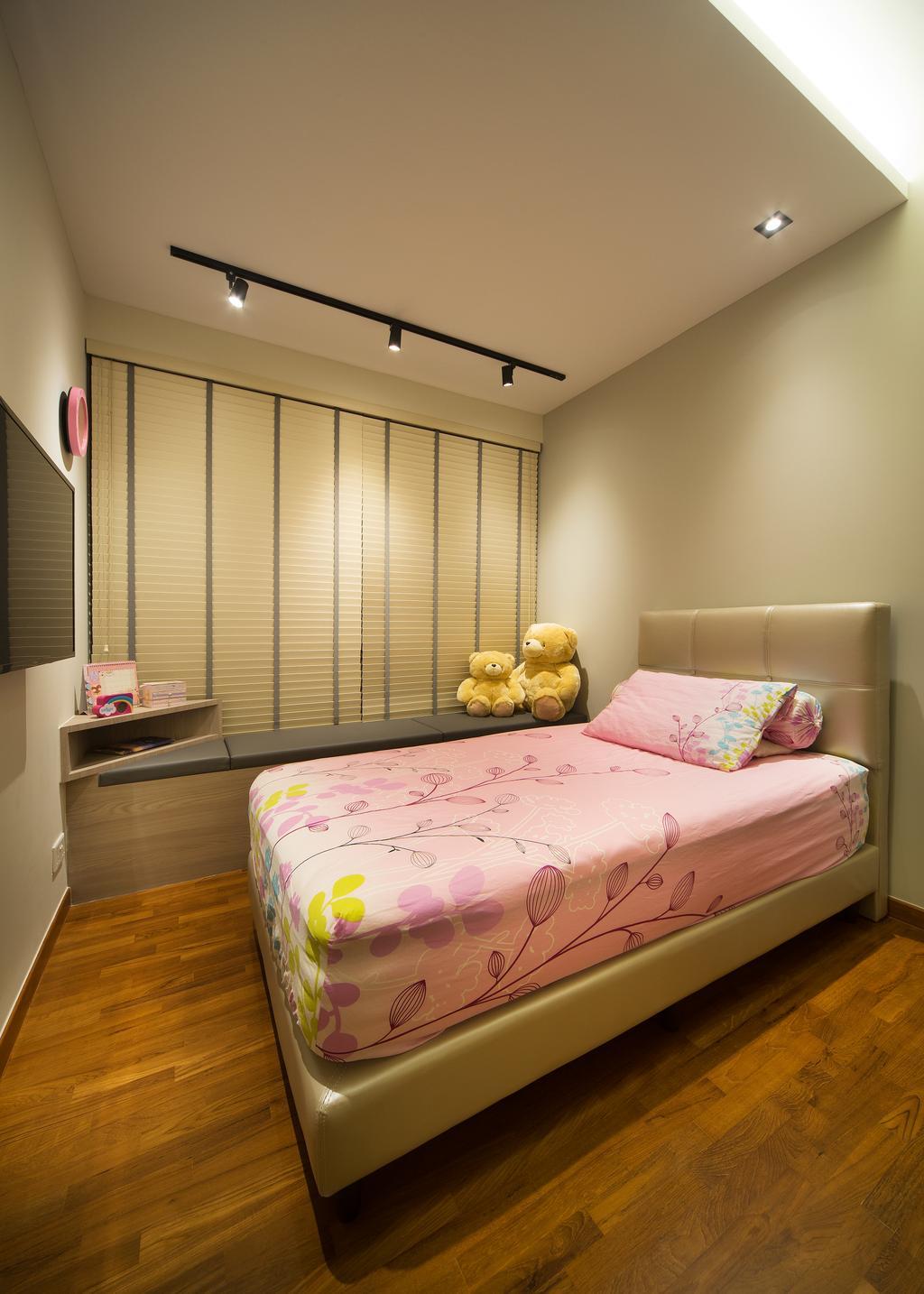 Transitional, Condo, Skypark Residence, Interior Designer, Form & Space, Teddy Bear, Toy, Bed, Furniture, Bedroom, Indoors, Interior Design, Room