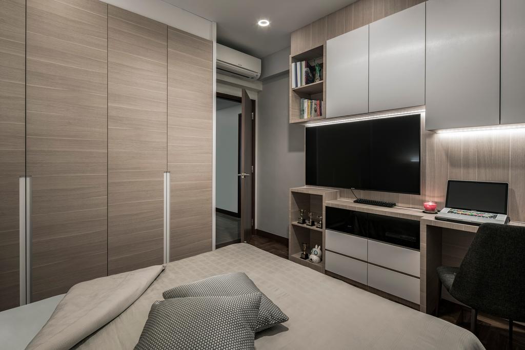 Modern, Condo, Bedroom, East Meadows, Interior Designer, Posh Home, Contemporary, Couch, Furniture, Chair