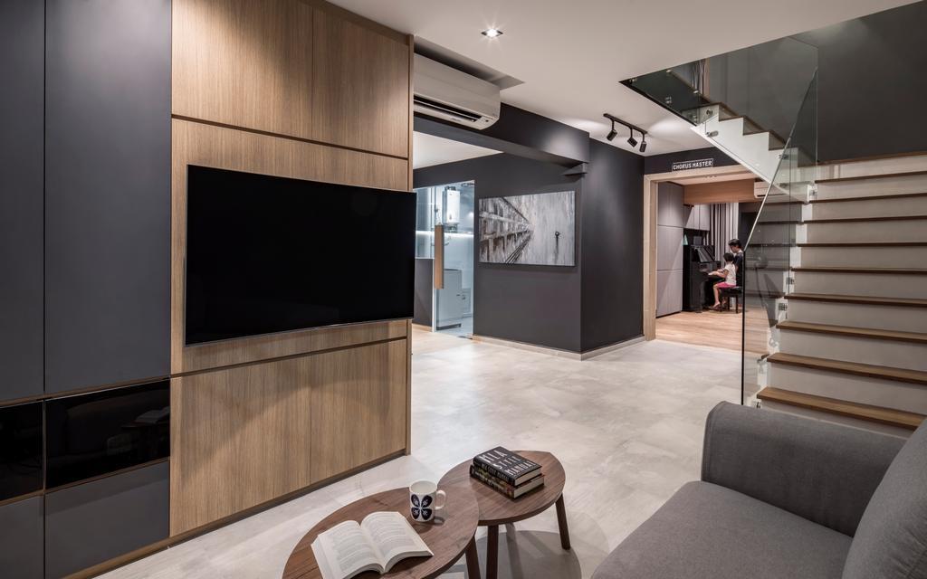 Modern, HDB, Living Room, Geylang East Avenue 1, Interior Designer, Posh Home, Scandinavian, Furniture, Sideboard, Chair, Dining Table, Table, Coffee Table
