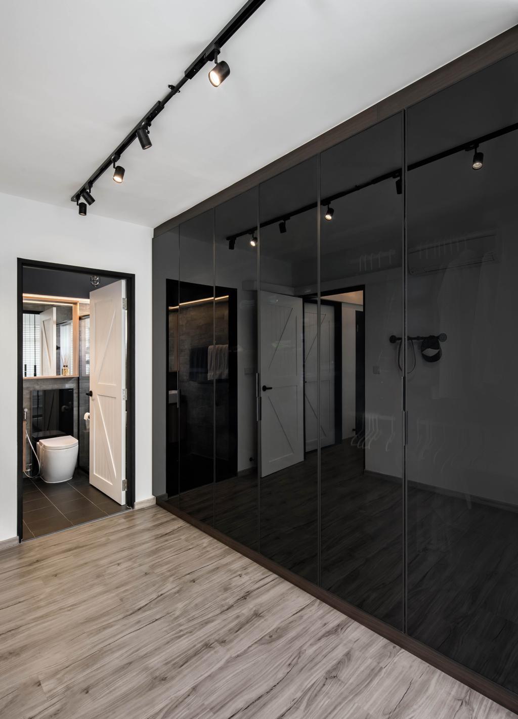 Industrial, HDB, Bedroom, Telok Blangah Street 31 (Block 80C), Interior Designer, Zenith Arc, Door, Sliding Door