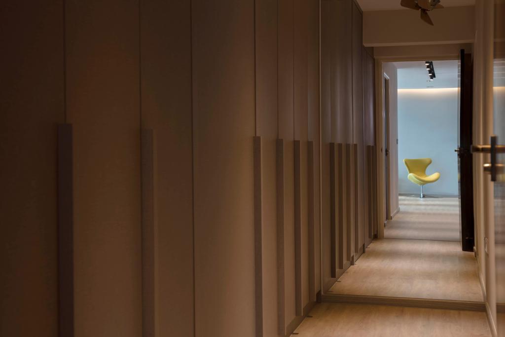 Contemporary, HDB, Bedroom, Punggol Way (Block 315B), Interior Designer, KDOT, Scandinavian, Corridor