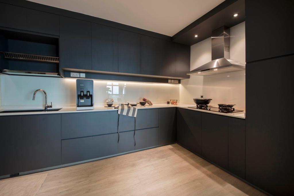 Contemporary, HDB, Kitchen, Punggol Way (Block 315B), Interior Designer, KDOT, Scandinavian, Indoors, Interior Design