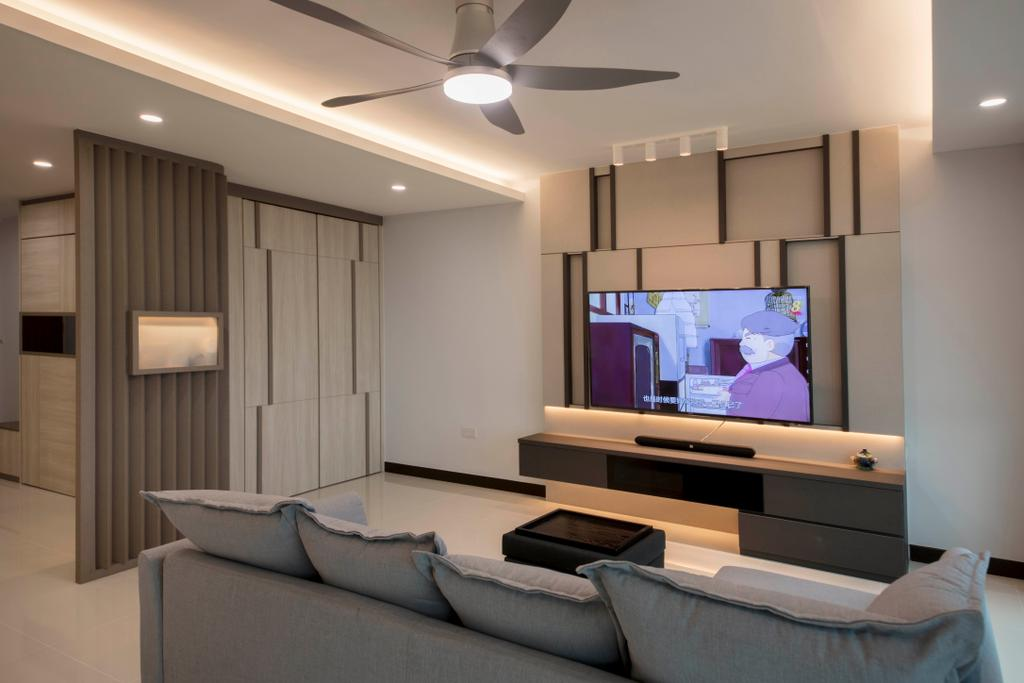 Minimalistic, HDB, Living Room, Sumang Lane (Block 227A), Interior Designer, Thom Signature Design