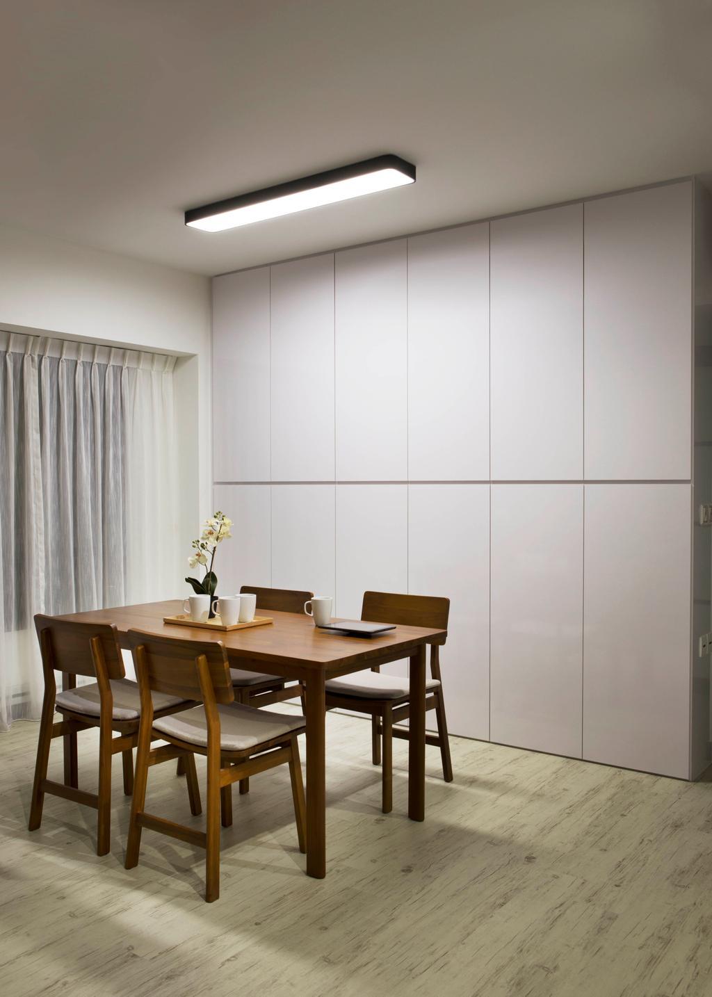 Contemporary, HDB, Dining Room, SkyVille @ Dawson, Interior Designer, Form & Space, Dining Table, Furniture, Table, Indoors, Interior Design, Room