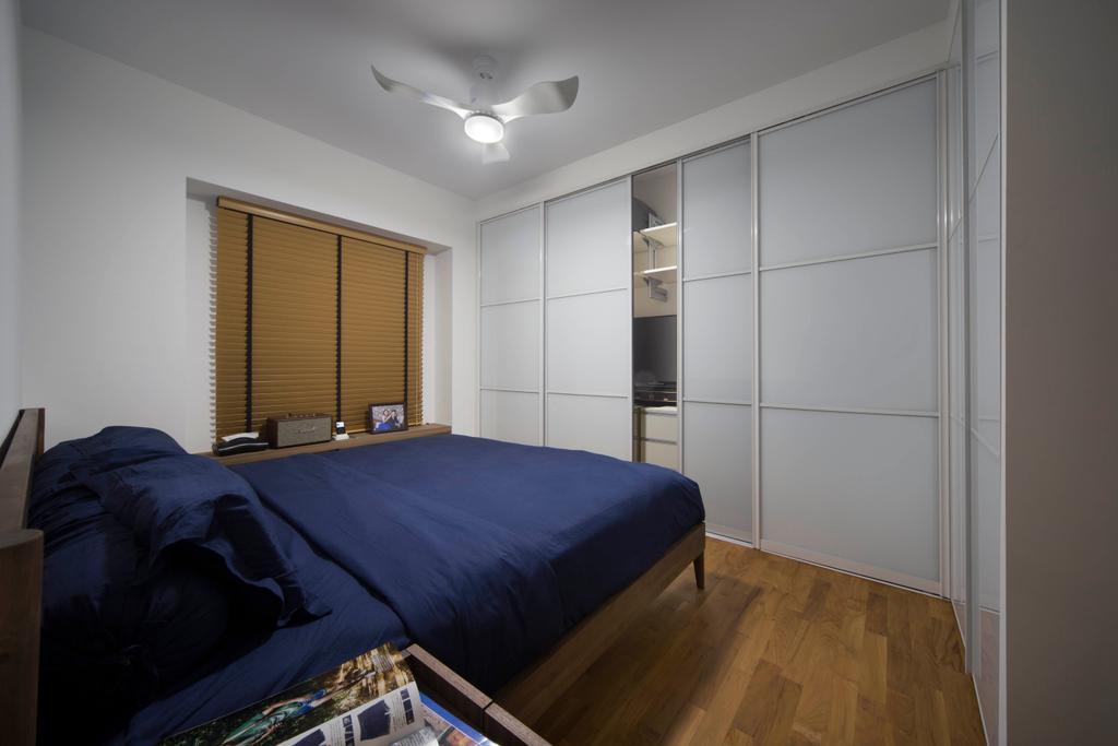 Contemporary, HDB, Bedroom, SkyVille @ Dawson, Interior Designer, Form & Space, Bed, Furniture, Indoors, Interior Design, Room
