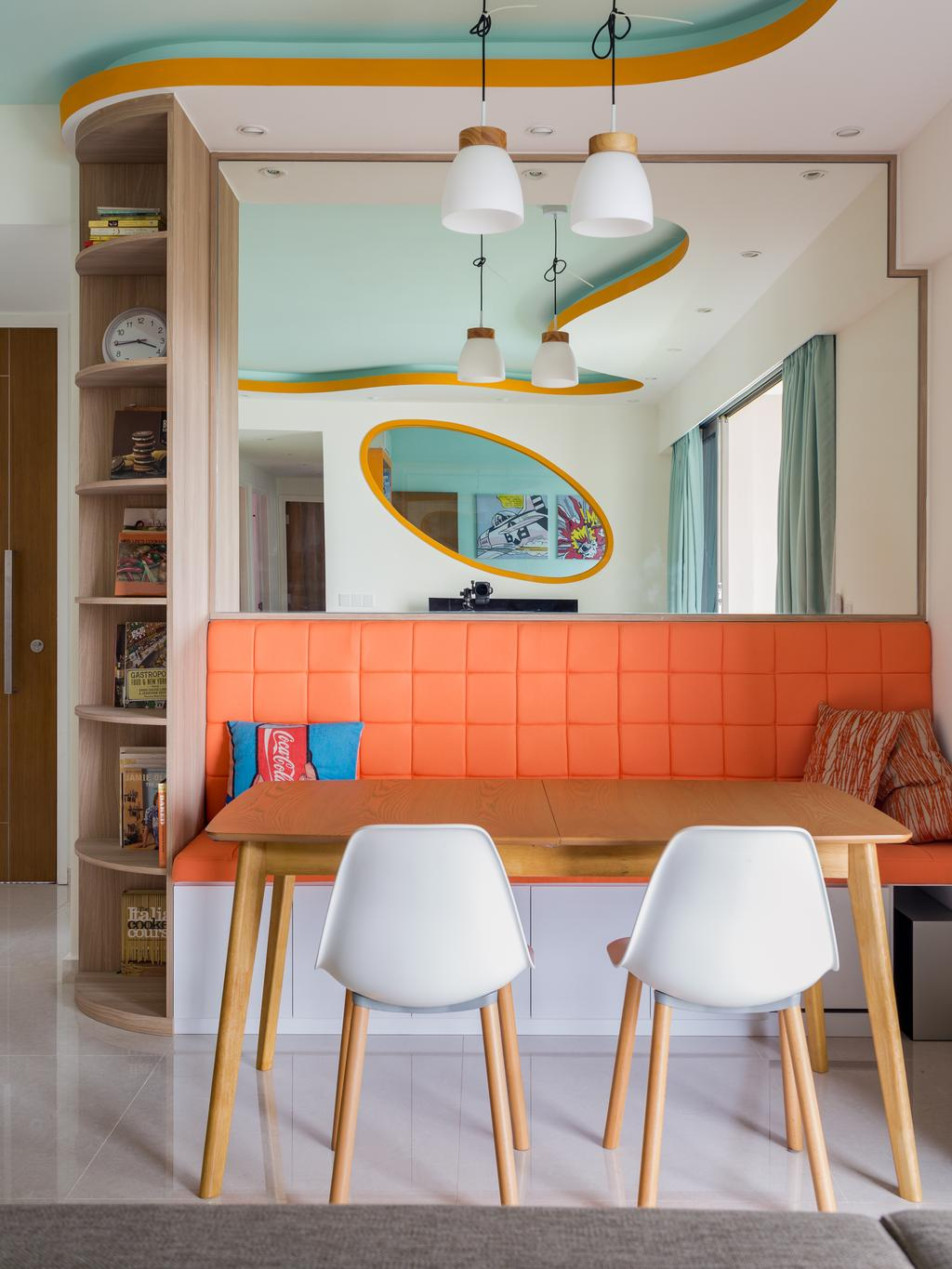 Eclectic, Condo, Dining Room, Kovan Regency, Interior Designer, Free Space Intent, Chair, Furniture, Table