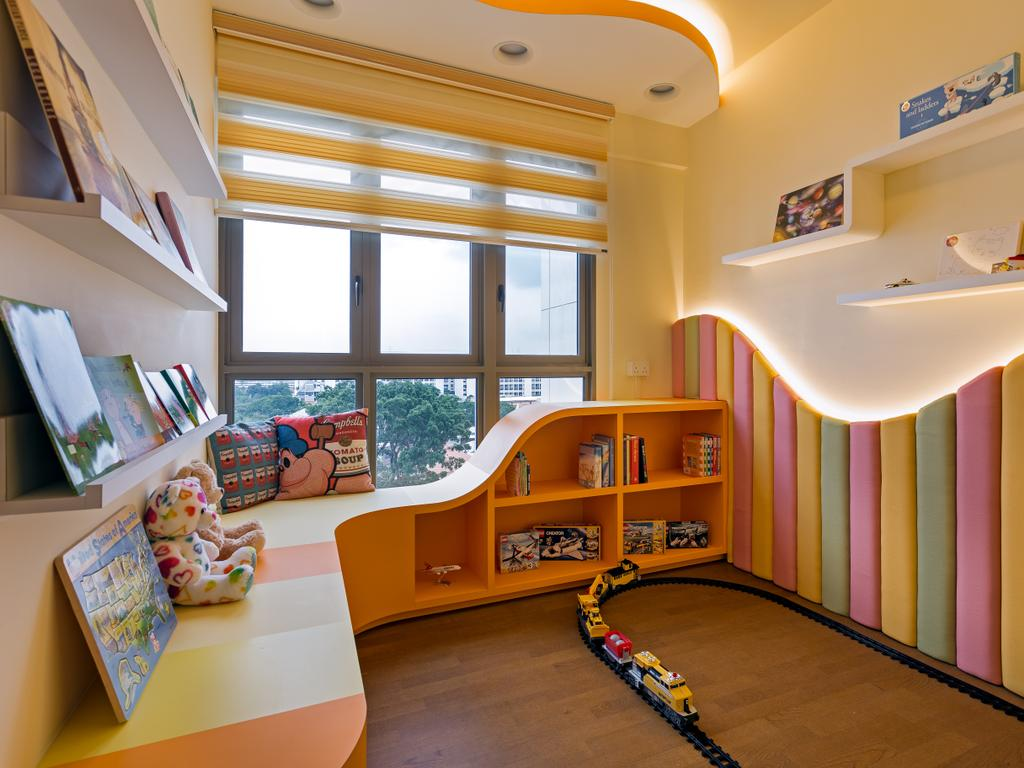Eclectic, Condo, Bedroom, Kovan Regency, Interior Designer, Free Space Intent, Indoors, Interior Design, Bookcase, Furniture