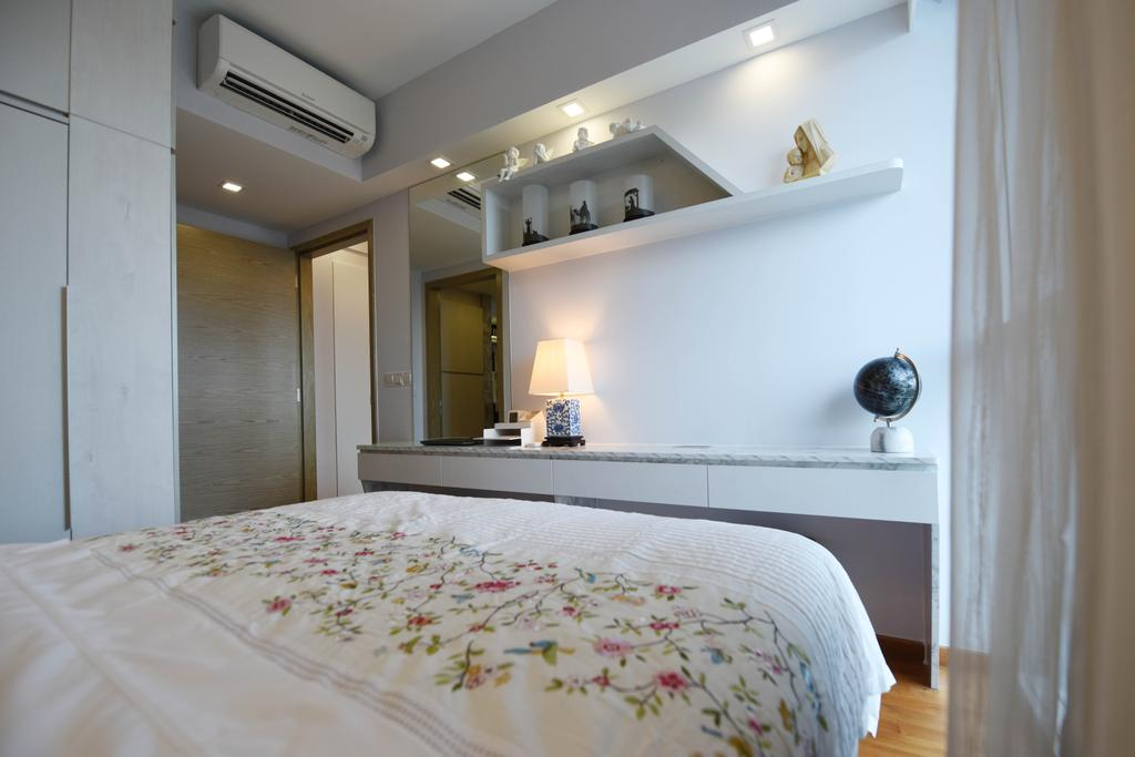 Minimalistic, Condo, Bedroom, Tampines Street 86, Interior Designer, Starry Homestead, Bed, Furniture