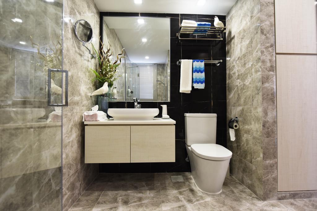 Minimalistic, Condo, Bathroom, Tampines Street 86, Interior Designer, Starry Homestead, Indoors, Interior Design, Room, Toilet
