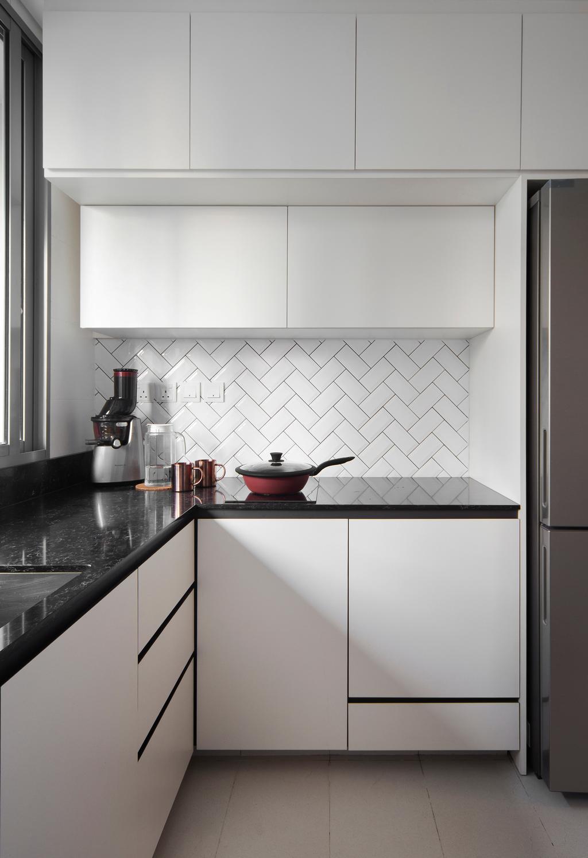 Industrial, Condo, Kitchen, De Centurion @ Tanjong Rhu Road, Interior Designer, Fuse Concept
