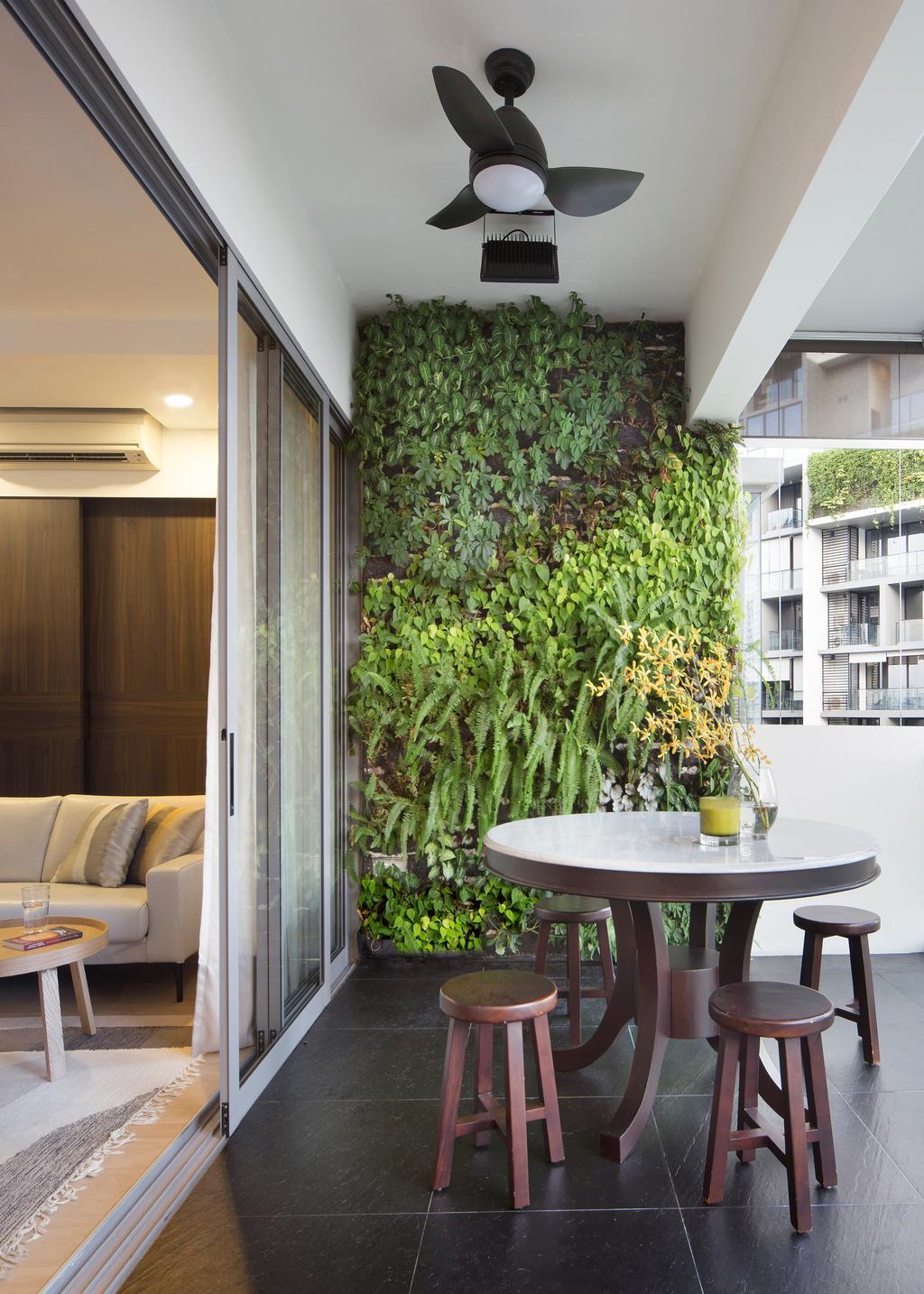 Industrial, Condo, Balcony, De Centurion @ Tanjong Rhu Road, Interior Designer, Fuse Concept, Couch, Furniture, Flora, Jar, Plant, Potted Plant, Pottery, Vase, Sink