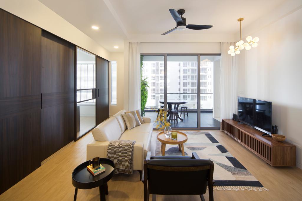 Industrial, Condo, Living Room, De Centurion @ Tanjong Rhu Road, Interior Designer, Fuse Concept, Chair, Furniture, Couch, Propeller, Dining Room, Indoors, Interior Design, Room, Coffee Table, Table