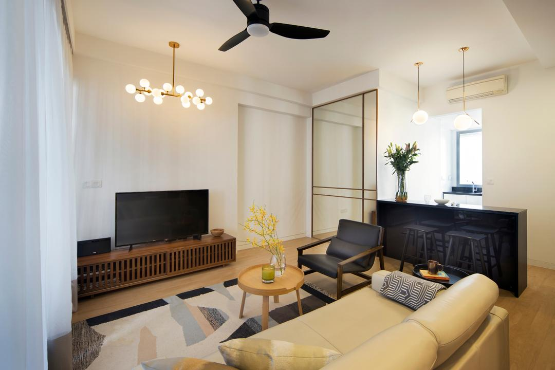 De Centurion @ Tanjong Rhu Road, Fuse Concept, Industrial, Condo, Flora, Jar, Plant, Potted Plant, Pottery, Vase, Propeller, Couch, Furniture, Indoors, Room, Waiting Room, Electronics, Entertainment Center